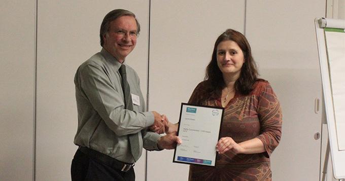 Presentation of CPD Award certificate
