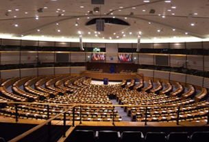 The interior of the European Parliament