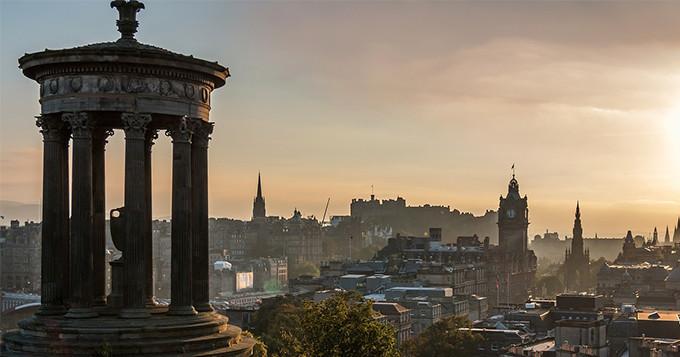 Edinburgh sunset seen from Calton Hill