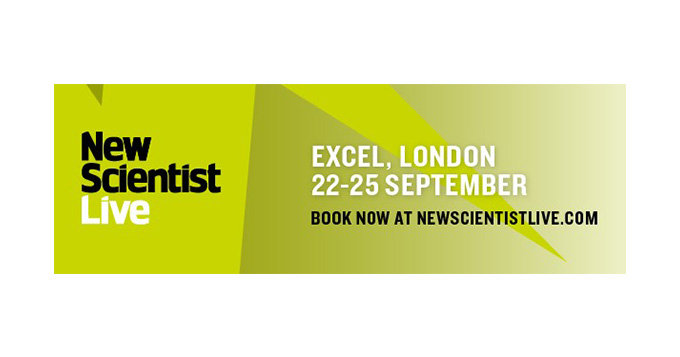 New Scientist Live Excel London 22-25 September book now at newscientistlive.com