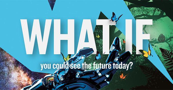 New Scientist Live banner image with words: What if you could see the future today?