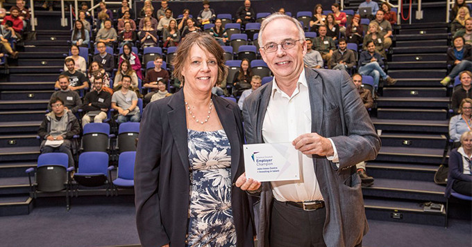 John Innes Centre Director receives Employer Champion plaque from Science Council Chief Executive