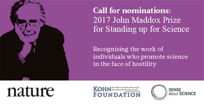 John Maddox Prize 2017