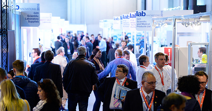 Delegates and exhibitors at a Lab Innovations event